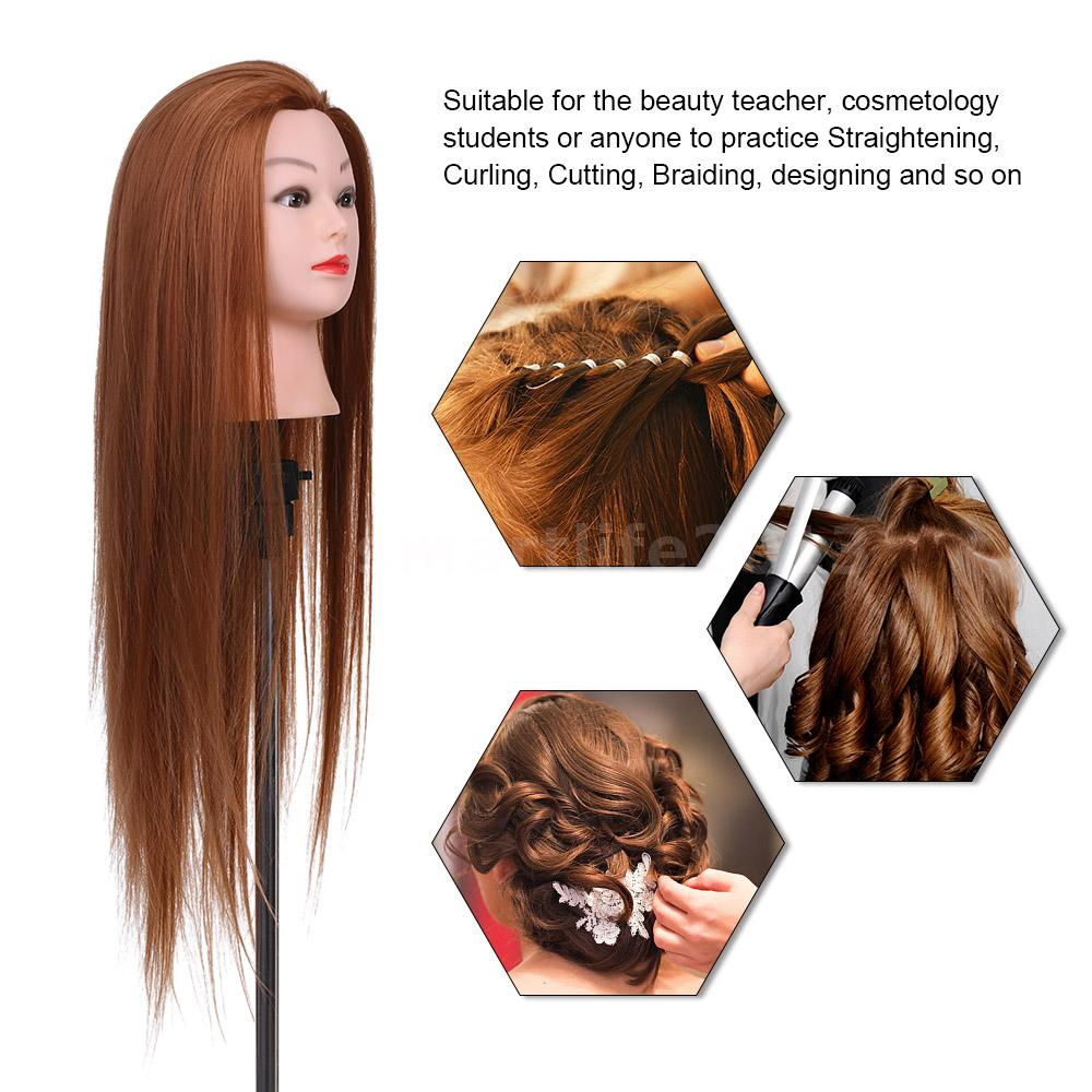 details about 28'' mannequin head pro hairstyle training head hairdresser practice h7q3